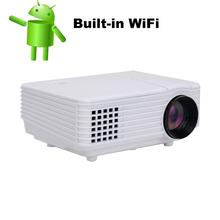 2016 de Cine En Casa Cine En 3D 1080 P HD pico proyector con Wireless Wifi android 4.4 HDMI USB Vídeo Digital Multimedia LCD LED