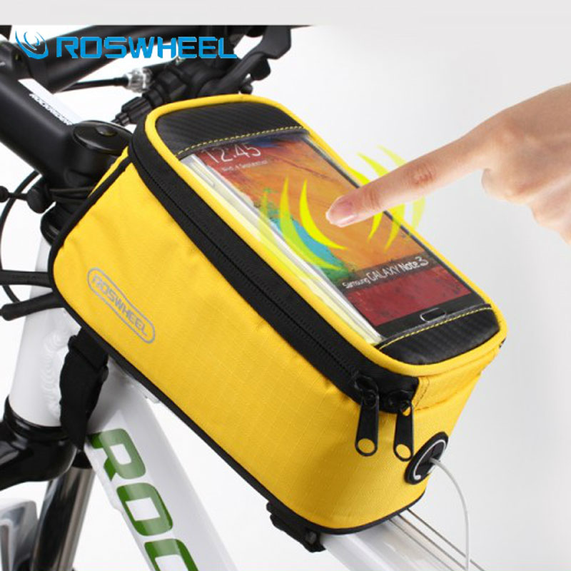 [NaturalHome] Brand Roswheel Cycling Bike Bicycle Frame Iphone Pannier Mobile Phone Case Bag Pouch Bike Front Bag Accessories(China (Mainland))