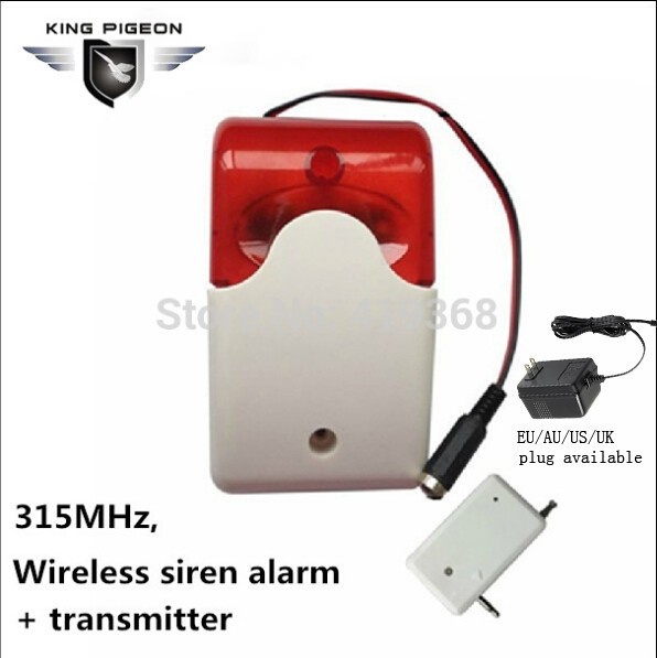 Free shipping 315Mhz Wireless Siren Alarm GSM with Stroble flash light 12V home Security Alarm System Strobe Siren( SR-60a)(Hong Kong)