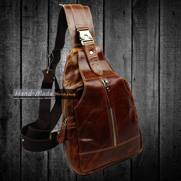 Different colors available 100% genuine leather famous brand mini bag fashionable men's travel messenger bags(China (Mainland))