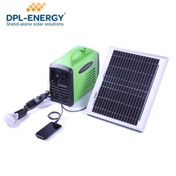 2014 Mini LED Light Portable Off Grid System Solar Power Battery Generator Ou