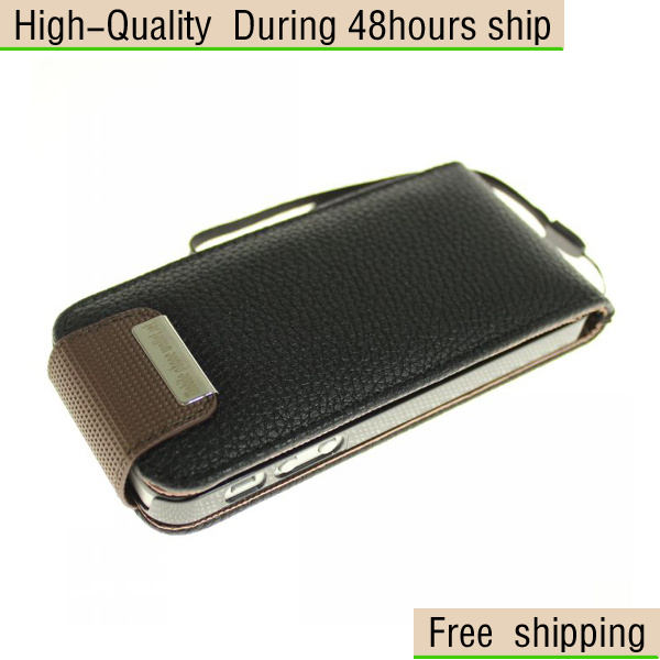 New Deluxe Litchi Flip Leather Credit Card Case Cover Skin for iPhone 5 5G 5th Free Shipping DHLEMS HKPAM CPAM HDS-2