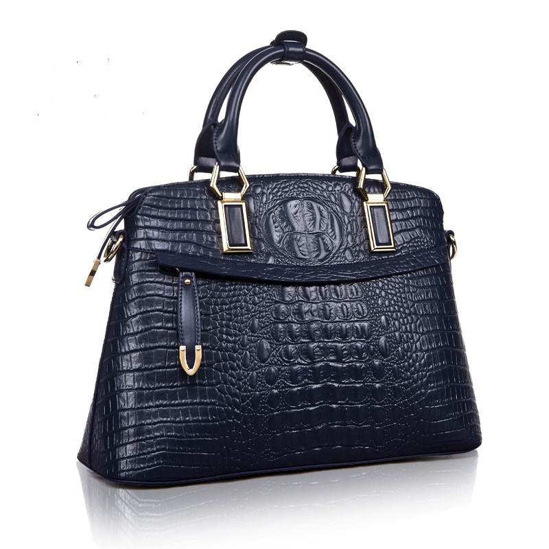 Genuine leather womens handbags solid top-handle bags female saffiano alligator shoulder bags for mothers gift hot selling<br><br>Aliexpress
