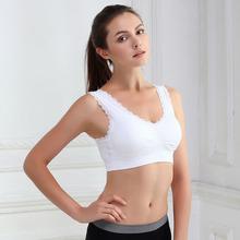 Sujetador Deportivo Women Active Tank Tops Bras Sport Gym Athletic Padded Soft Bra Lace Leisure Crop Top Stretch Vest