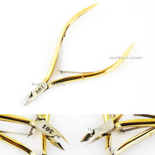 Sharp Nail Toenail Cuticle Nippers Gold