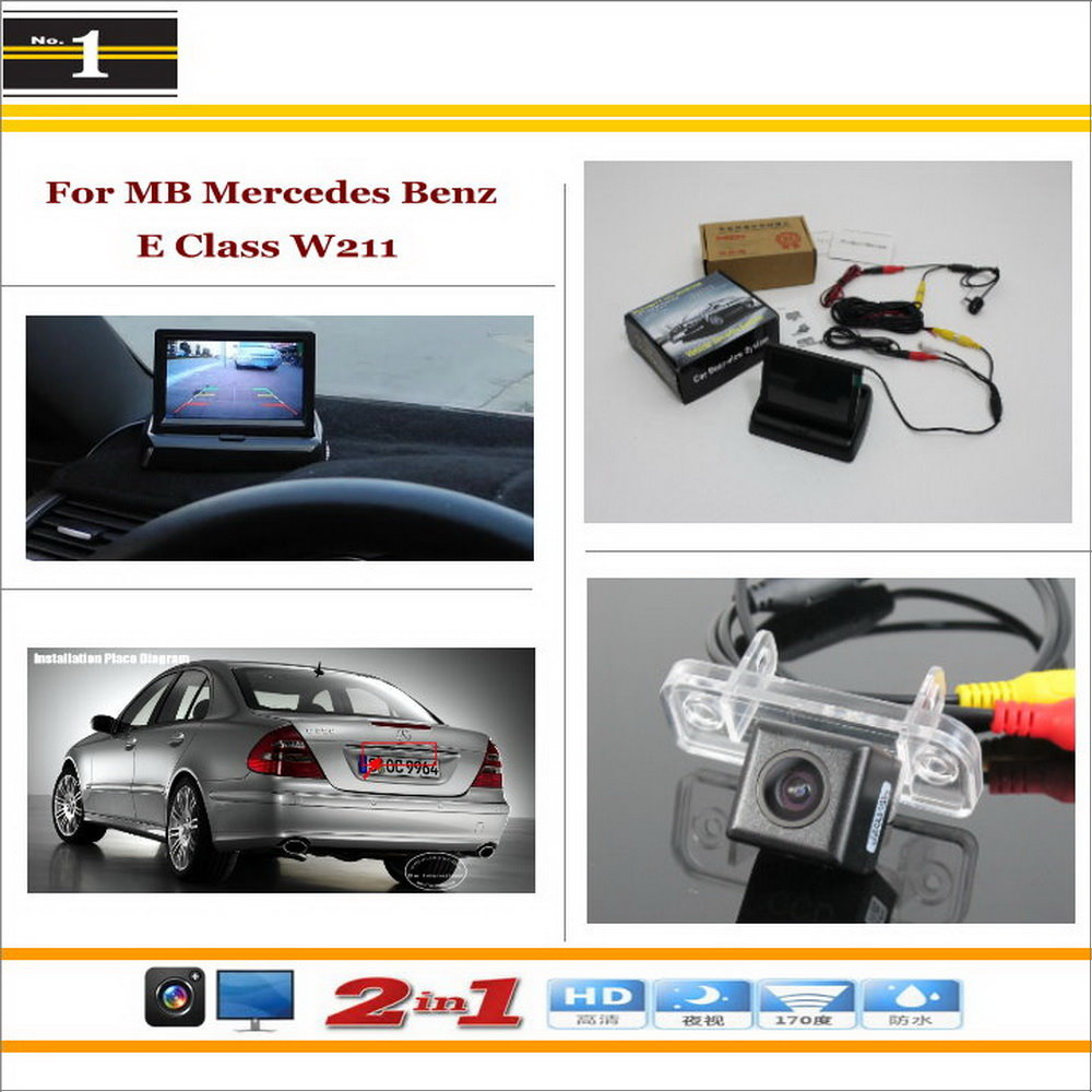 Car Rearview Camera + 4.3 LCD Screen Monitor = 2 in 1 Parking Assistance System - For Mercedes Benz E Class MB W211 2002~2009<br><br>Aliexpress