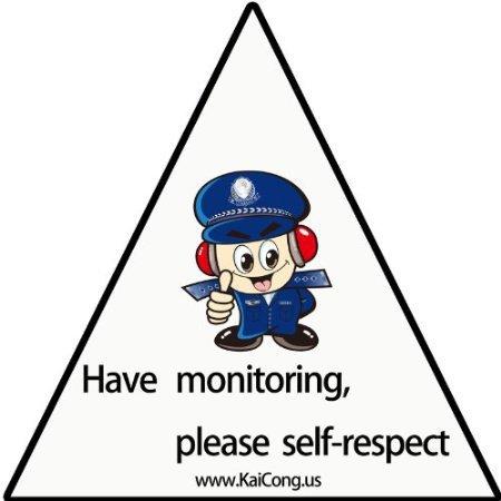 KaiCong pjb90 monitor warning signs stickers burglar<br><br>Aliexpress