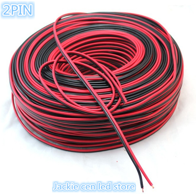 5M Lamp with wire cable,22AWG 2PIN(2channel) tinned copper PVC insulated nylon plastic extension cord for led strip(China (Mainland))