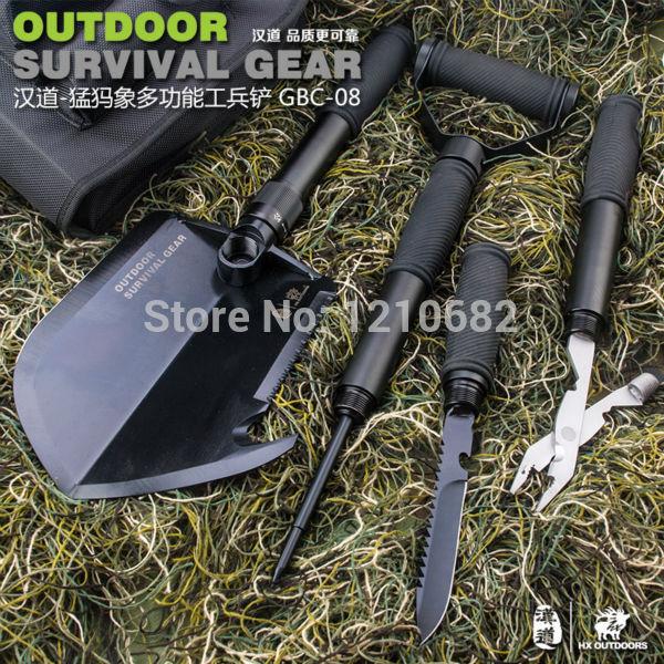DHL Free shipping,Multifunctional Shovel Outdoor Camping Shovel Mini Survival Trowel Tools, Snow Spade Pick Saw Hunting Tools(China (Mainland))