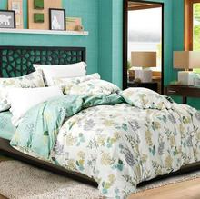 New Cotton Bedding Set Autumn Winter Bedspread Jacquard Mint Green Duvet Cover Set Bed Sheet Set Queen King Size Bedclothes(China (Mainland))
