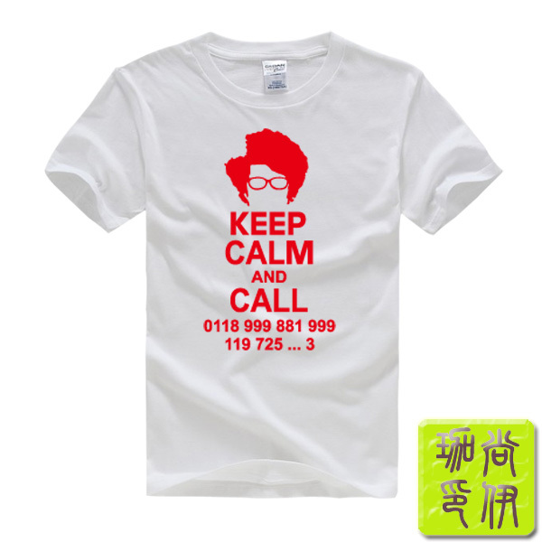 The IT Crowd Roy Computer Programmer Keep Calm and Call Printed Men's T-Shirt T Shirt For Men 2015 New Cotton Tshirt Top Tee(China (Mainland))
