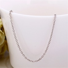 New Fashion 1.5mm Platinum Plating Curb Link Chain Brass Necklace Coolworldwise hot sale(China (Mainland))