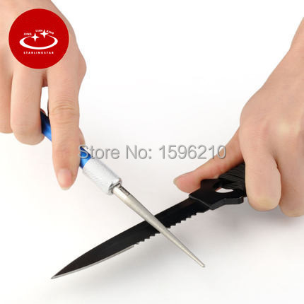 Professional Sharpening stone Diamond Multi-purpose Pen shape Knife Sharpener Grindstone Fishing Hook Sharpner(China (Mainland))