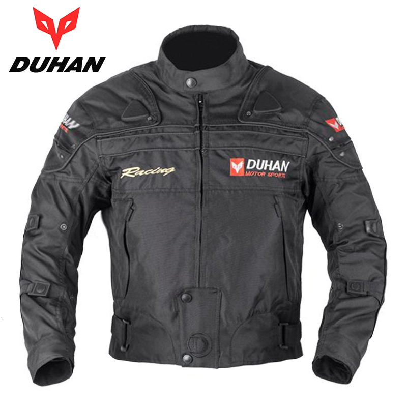 DUHAN Men's Motocross Off-Road Jaqueta Oxford Cloth Waterproof Motorcycle Riding Racing Moto Jacket with Five Protector Clothes(China (Mainland))