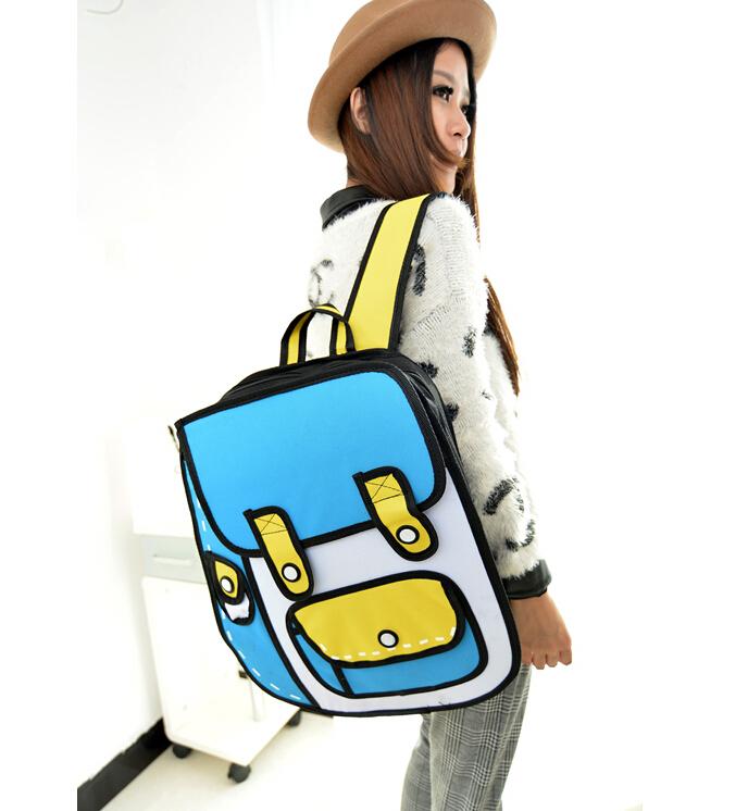 Fashion 2D Canvas Bag Comic Gismo Cartoons Bag Camera Backpack Women Men Unisex Shoulder General Bags cartoon 3d backpacks(China (Mainland))