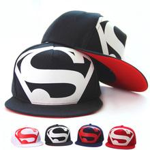 Hot! New Arrive Fashion Hip Hop Superman Snapback Caps Hats For Men Women Summer Casual Outdoor Baseball Cap Hat Free Shipping