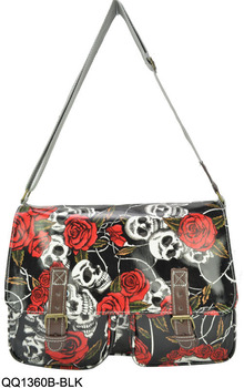 Fashion Floral Skulls Design Children School Bags Ladies Shoulder Messenger  bags Handbags QQ1360