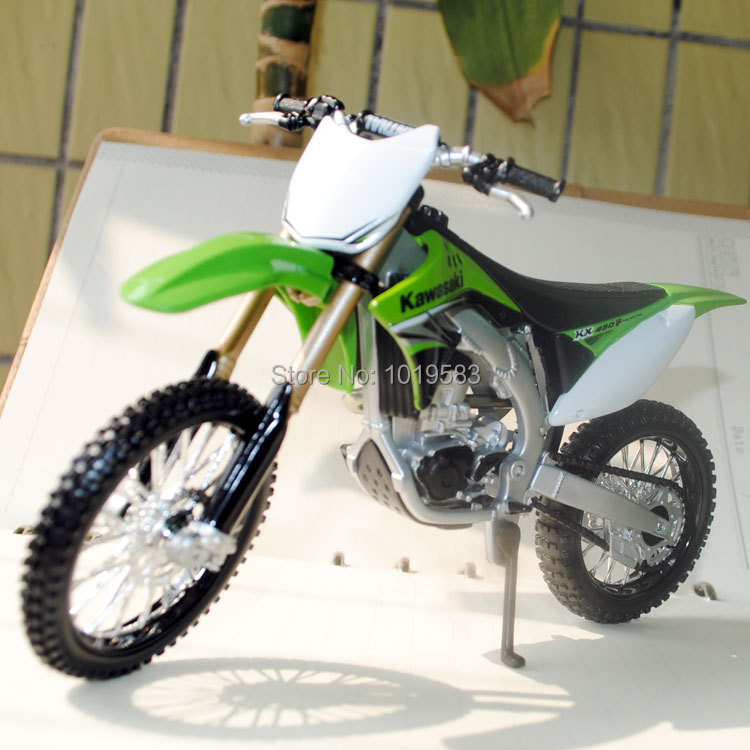 Free Shipping Motorbike Model Toys Kawasaki KX 450F Max Dirt Bike 1/12 Scale Diecast Metal Motorcycle Model Toy For Gift/Kids(China (Mainland))