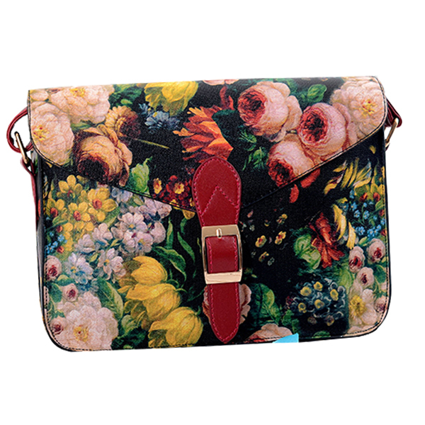 new 2015 women's small flower oil painting ladies Shoulder bags Satchels vintage printing messenger women bag Z5 Free shipping(China (Mainland))