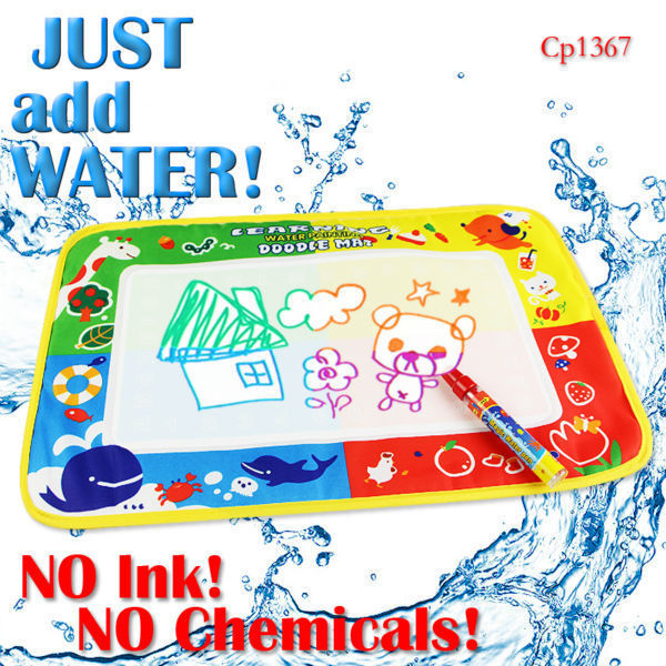 Free shipping CP1367 46X30cm Drawing Toys Mat Aquadoodle Drawing Mat&1 Magic Pen/Water Drawing Replacement Mat(China (Mainland))