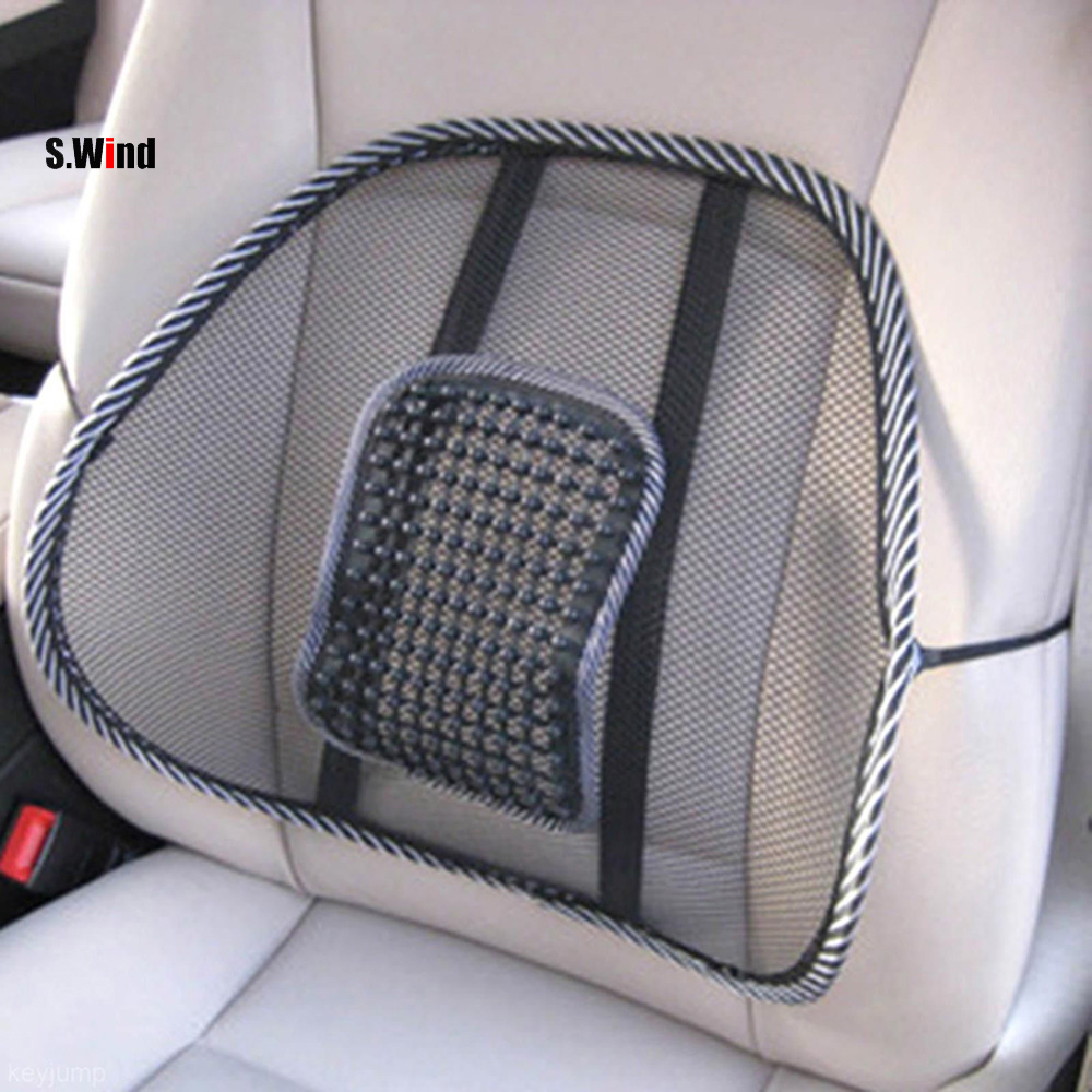 Mesh Lumbar Back Brace Support Office Home Car Seat Chair Cushion Cool Free Shipping(China (Mainland))