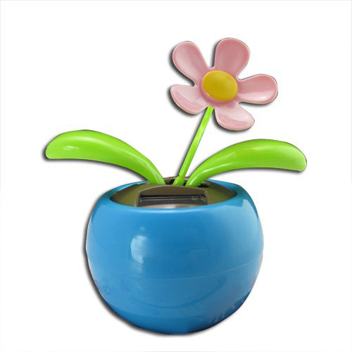 LNHF Blue Magic Cute Flip Flap Swing Dancing Solar Powered Flower Toys(China (Mainland))