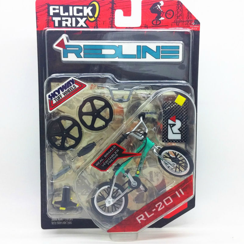 "NEW Flick Trix Bmx Mini Finger Bike ""RL-2011"" Alloy model bikes with wheels trick bars display stand bonus stickers and tools(China (Mainland))"