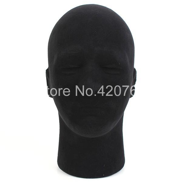 2014 New Male Styrofoam Foam Mannequin Manikin Head Model Glasses Wigs Cap Display Stand Free Shipping(China (Mainland))