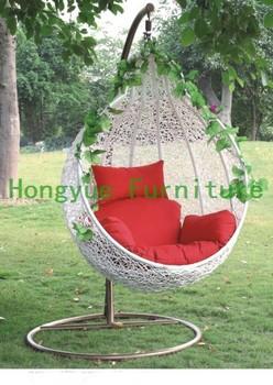 Белый на открытом воздухе ротанга гамак мебель, Ротанга качели