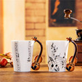 Creative Violin Music Bone China Mug 240 400ml Ceramic Coffee Cup Porcelain Tea Cup Zakka Novelty