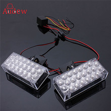 Buy 1 Pair 22 LED Red Flashing Emergency Light Warning Grill Strobe Flash Lamp 12V 220LM 4W 6W for $5.31 in AliExpress store