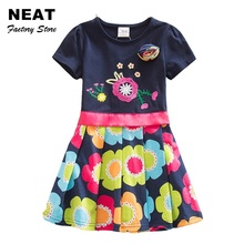Buy 4-8Y NEAT Nova 2017 New Dress Flower Baby Girl Print Lace Party Princess Dresses Vestidos Child Clothes Kids Wear SH5868 MIX for $16.32 in AliExpress store