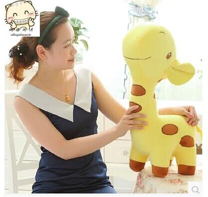large 60cm lovely cartoon giraffe plush toy doll,throw pillow, Christmas gift b4536(China (Mainland))
