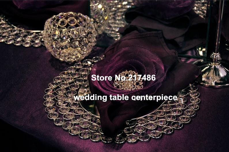 cheap crystal beaded charger plates wholesale for hotel&wedding used(China (Mainland))