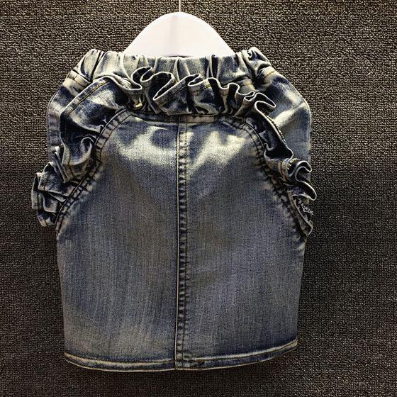 wholesale (5pcs/lot) 2015 spring autumn back pockets demin skirt for child AB01 girl <br><br>Aliexpress