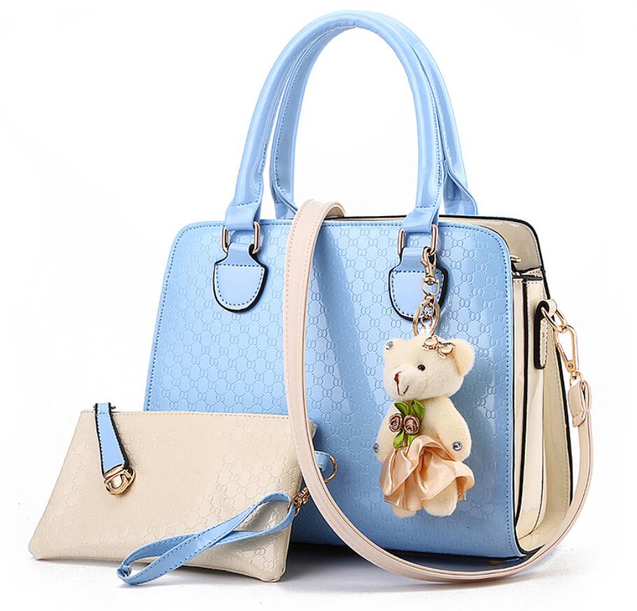 product 2015 Eropa dan Amerika busana kasual buaya pola tas Genuine patent leather bag kulit tas bahu 3pcs /bag