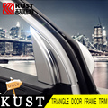 KUST newest Version Interior Triangle Door Decoration Trim Cover For Hyundai For Tucson 2016 ABS Car