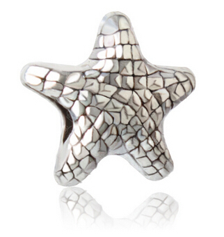 Free Shipping High Quality Low Price European Bead Antique Silver Starfish Bead DIY Jewerly(China (Mainland))