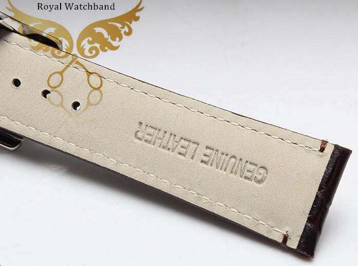 22 мм часы полоса высшего ранга сталь пряжки браун картины крокодила натуральной кожи ремешки полосы ремень