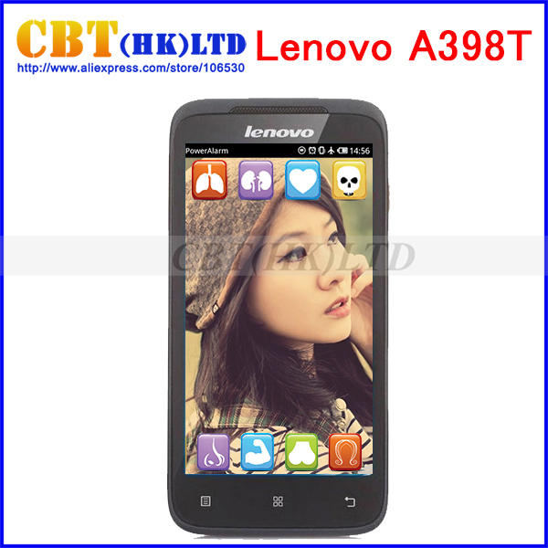In stock original Lenovo A398T Android 4.0 Smartphone 4.5 Inch IPS Screen SC8825 Dual Core 1.0GHz WiFi GSM Cell Phone(Hong Kong)