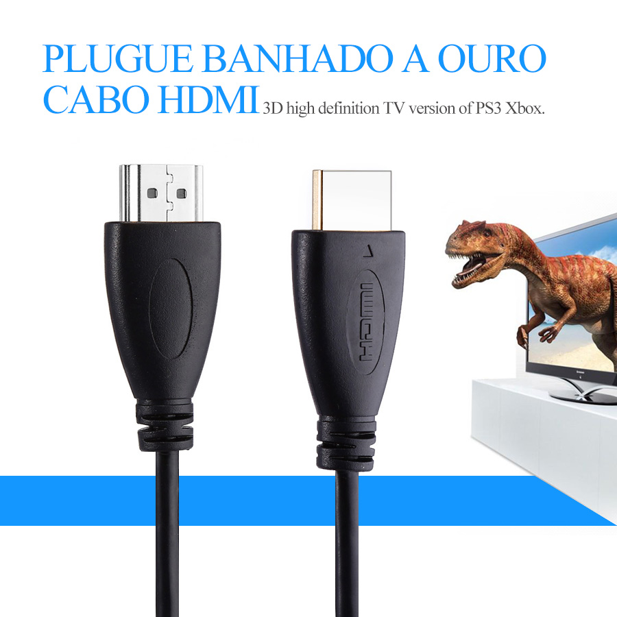 1M,2M,3M,5M,10M,15M High Speed Gold Plated Plug Male-Male1080P 3D HDMI Cable 1.4 Version for XBOX PS3 HDTV Satellite Receiver(China (Mainland))