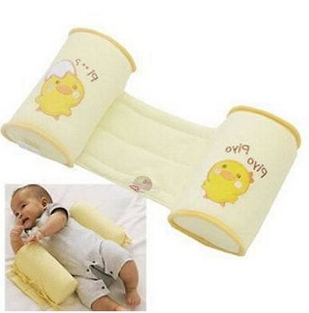 1 Piece Comfortable Cotton Anti Roll Pillow Lovely Baby Toddler Safe Cartoon Sleep Head Positioner Anti-rollover AF010(China (Mainland))