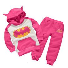 7 Colors Boys & Girls Children Hoodies & Sweatshirts Kids Clothing Set Cartoon Batman Casual 100% Cotton Hoddies Sweatshirts(China (Mainland))