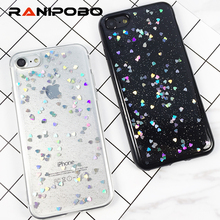 Buy iPhone 6 6S Plus 7 7 Plus Luxury Bling Glitter Transparent Heart Case Powder Ultra Thin Phone Cases Soft TPU Back Cover for $1.31 in AliExpress store