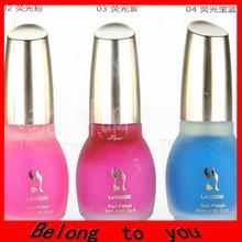 240pcs/lot Free Shipping Laushine Fluorescent Neon Luminous Nail Polish Glow in Dark Nail Varnish Nail Enamel  15ml(China (Mainland))