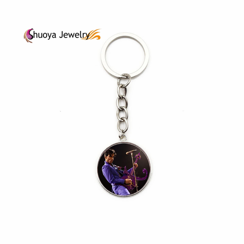 Prince Key Chains S&Y 2016 New Trendy Antique Copper Silver Glass Keychains Prince Lanyard For Women(China (Mainland))