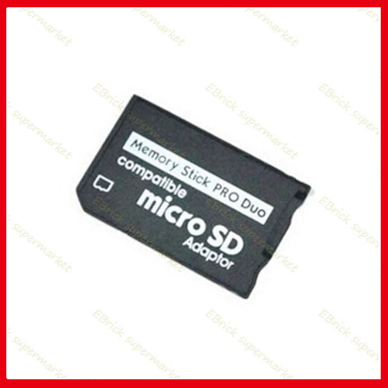 10pcs tf to ms card holder replacement For SONY PSP Memory Stick Micro SD Adaptor 32g(China (Mainland))