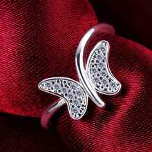 Lose Money Promotions Wholesale 925 silver ring 925 silver fashion jewelry buttfly to where Ring SMTR599
