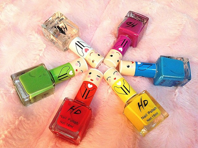 Environmental low carbon quick-drying nail polish nail oil nude color candy-color bright red the dolls fruit Scent 18ML