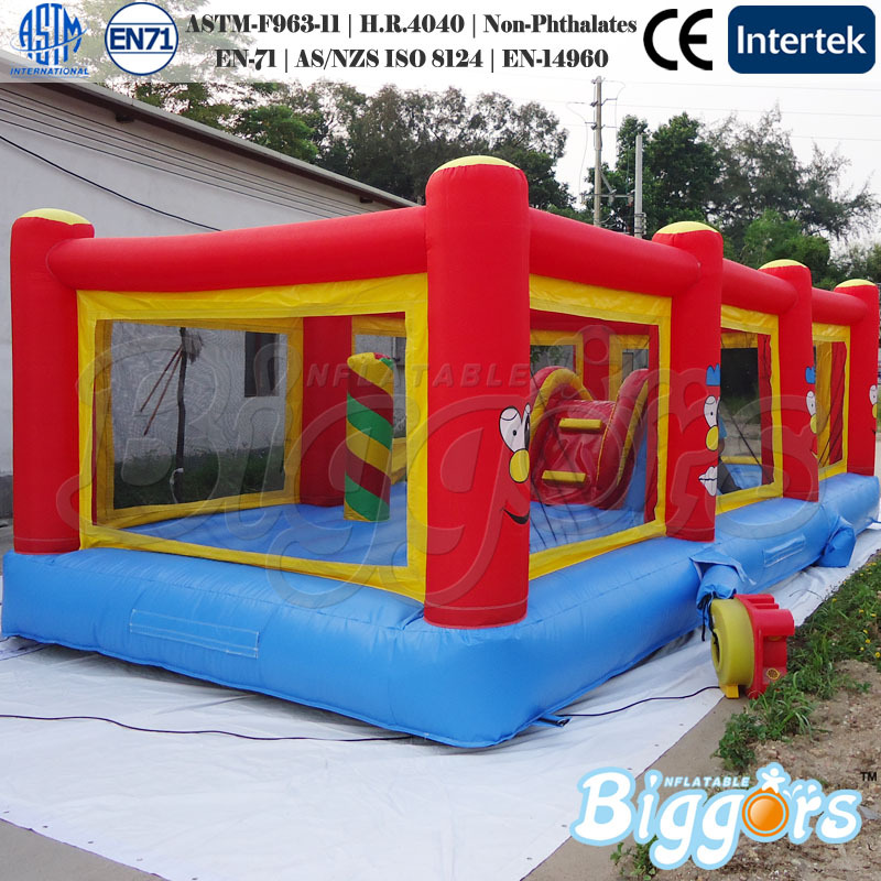 FREE SHIPPING BY SEA Popular Bounce House Inflatable Fun City With Air Blower(China (Mainland))